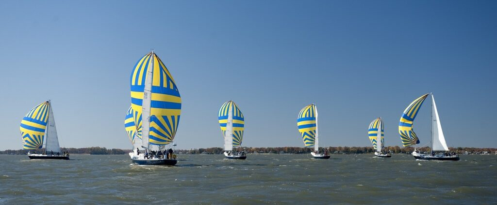 sailboats, race, competition